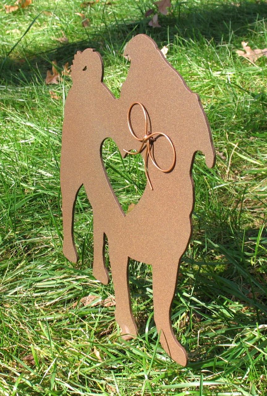 Painted Pug Dog Metal Garden Stake - Metal Yard Art - Metal Garden Art - Pet Memorial - 2