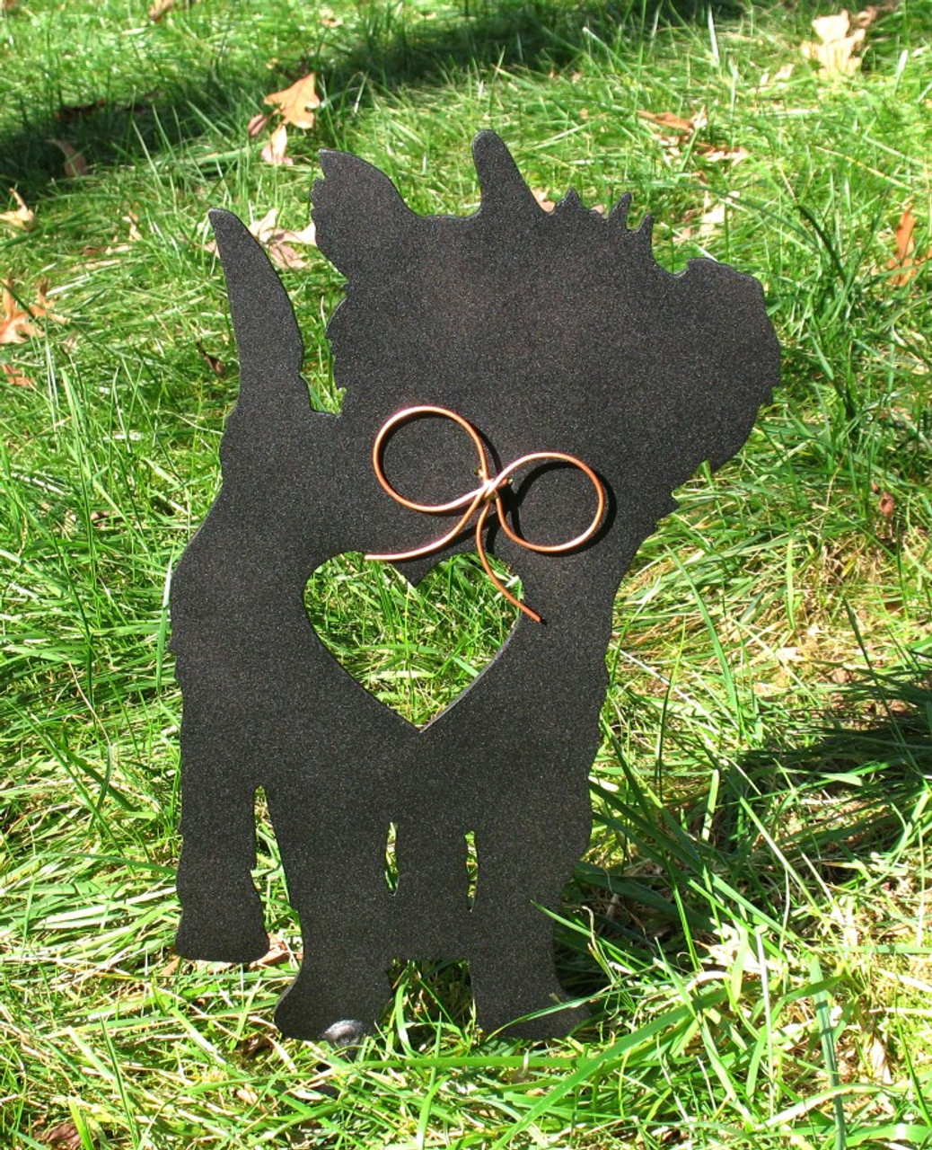 Painted Cairn Terrier Dog Metal Garden Stake - Metal Yard Art - Metal Garden Art - Pet Memorial - 1