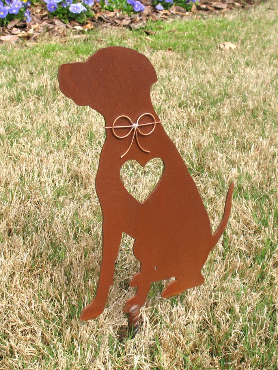 Rhodesian Ridgeback Dog Metal Garden Stake - Metal Yard Art - Metal Garden Art - Pet Memorial 2