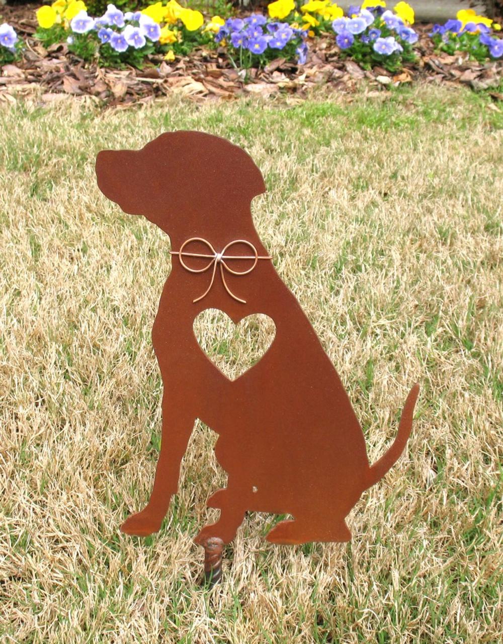 Rhodesian Ridgeback Dog Metal Garden Stake - Metal Yard Art - Metal Garden Art - Pet Memorial 2
