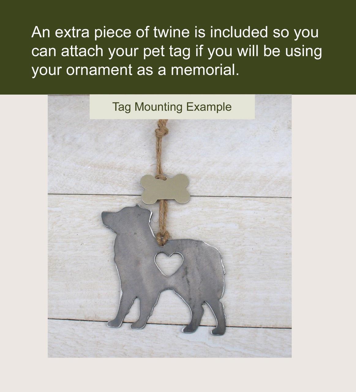 Beagle Dog Ornament 2 Pet Memorial W/ Angel Wings - Pet Loss Dog Sympathy Remembrance Gift - Metal Dog Christmas Ornament
