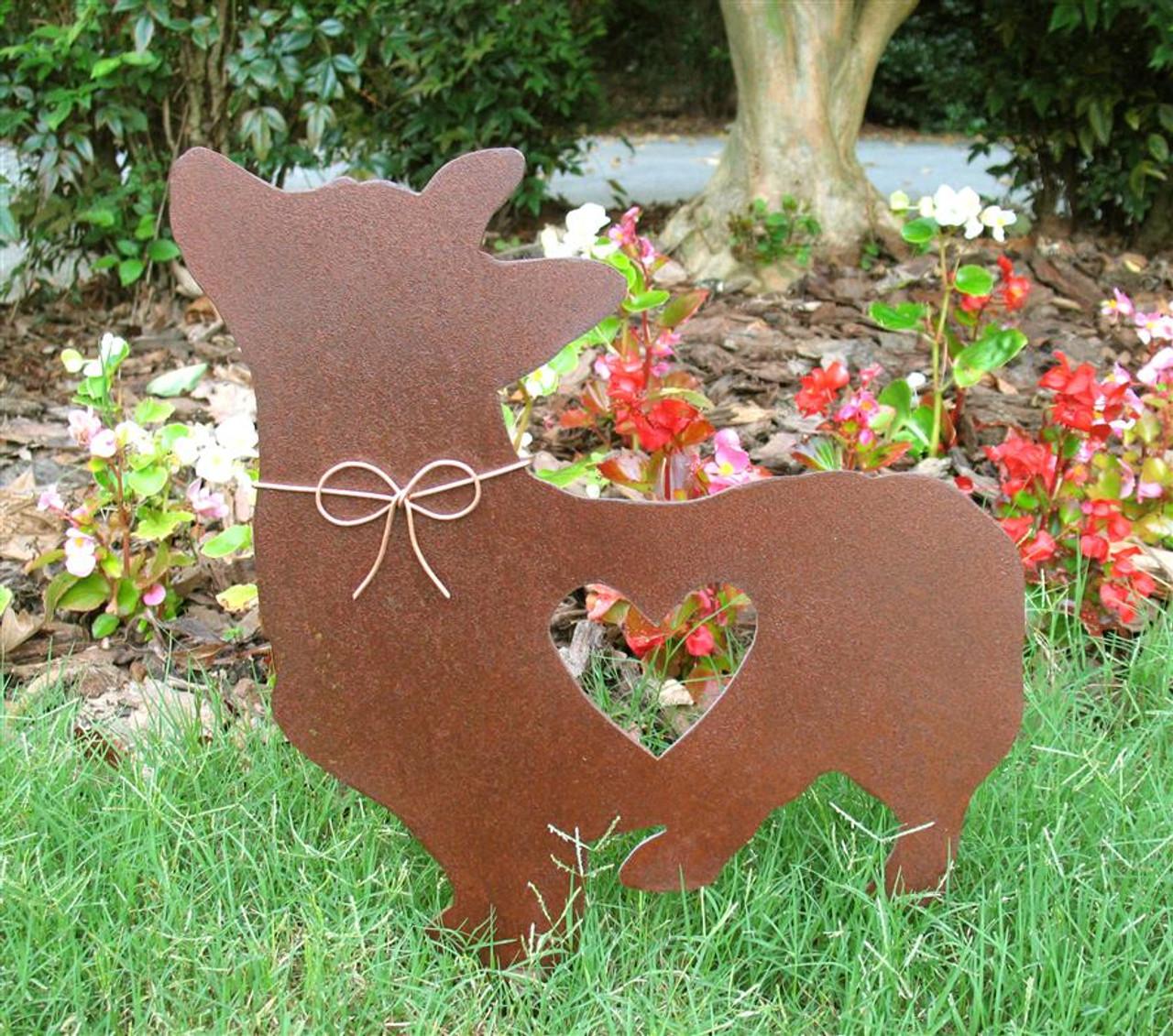 Corgi Dog Metal Garden Stake - Metal Yard Art - Metal Garden Art - Pet Memorial