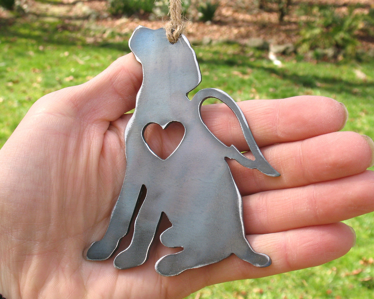 German Pointer Dog Ornament Pet Memorial W/ Angel Wings - Pet Loss Dog Sympathy Remembrance Gift - Metal Dog Christmas Ornament