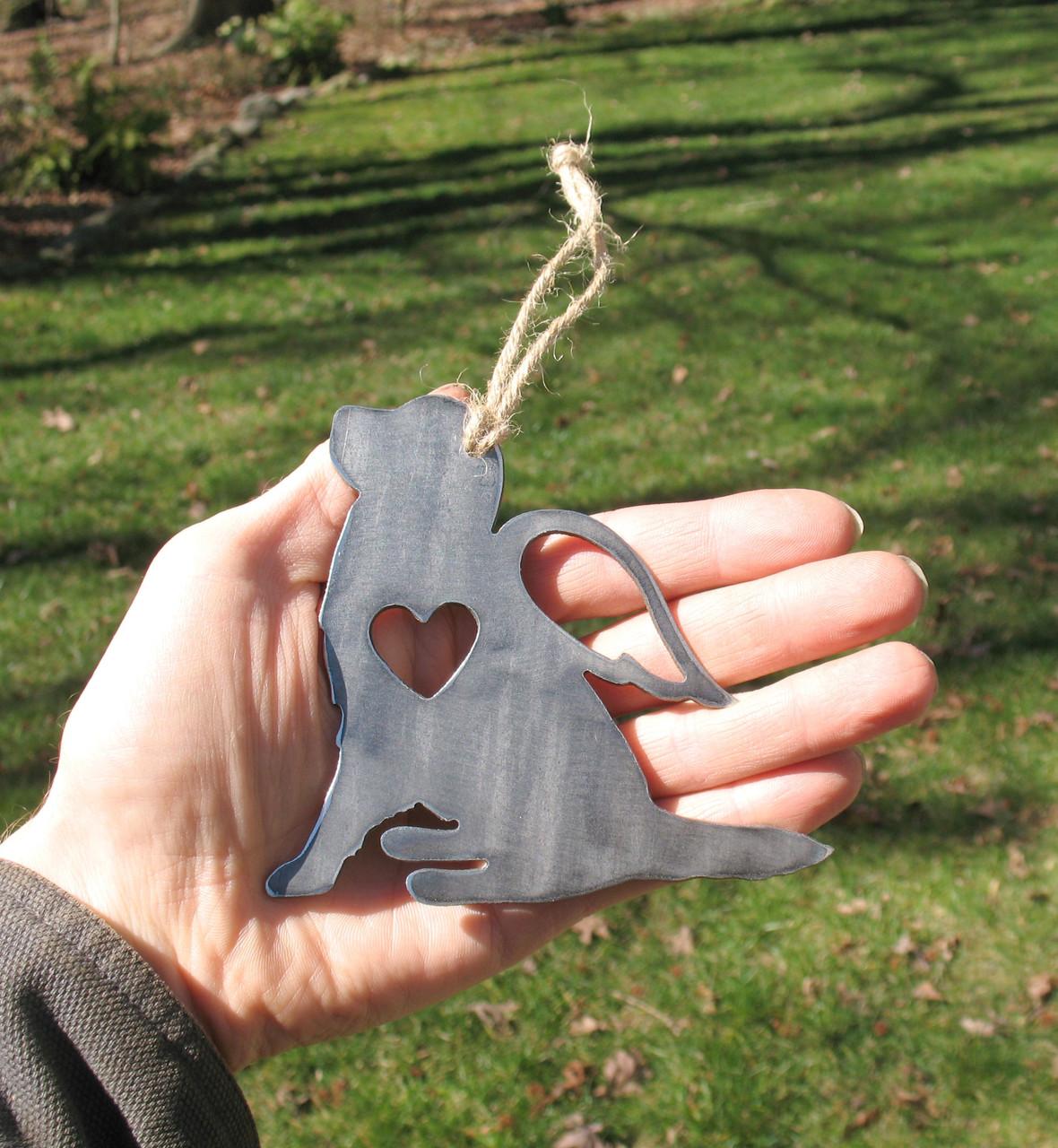 Golden Retriever Dog Ornament 2 Pet Memorial W/ Angel Wings - Pet Loss Dog Sympathy Remembrance Gift - Metal Dog Christmas Ornament