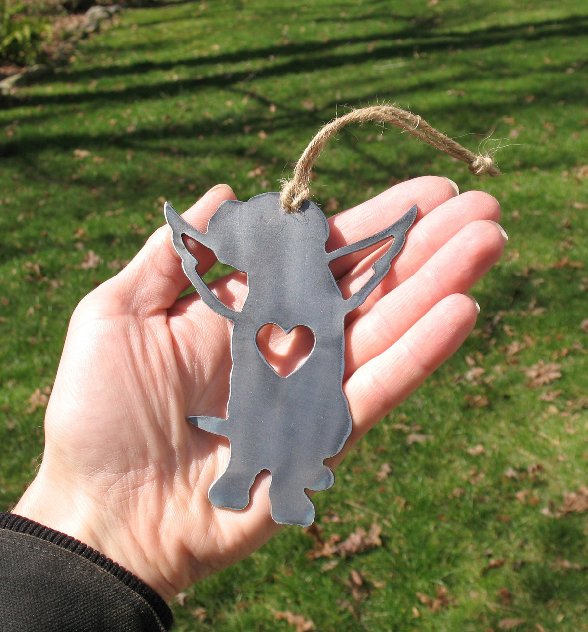 Mastiff Dog Ornament 1 Pet Memorial W/ Angel Wings - Pet Loss Dog Sympathy Remembrance Gift - Metal Dog Christmas Ornament