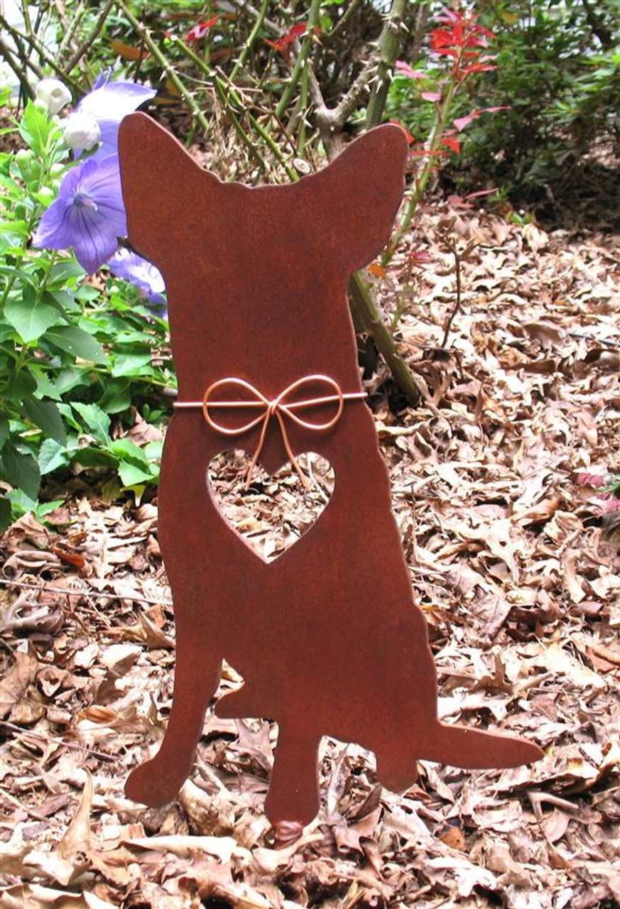 Australian Cattle Dog Metal Garden Stake - Metal Yard Art - Metal Garden Art - Pet Memorial