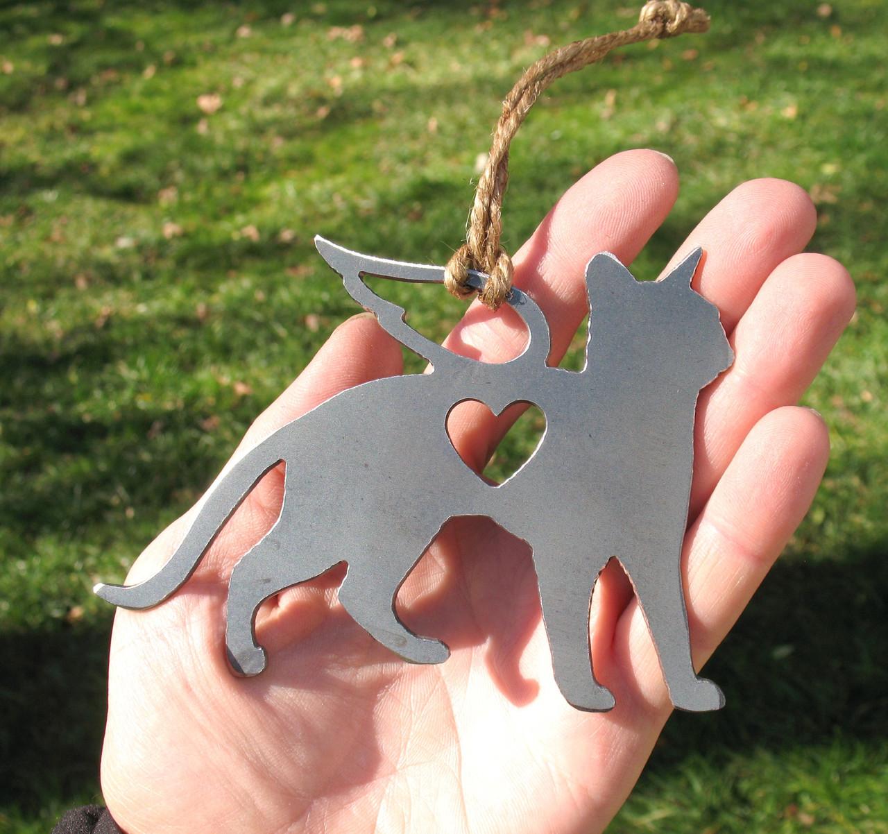 Abyssinian Cat Memorial Angel - Cat Loss Gift - Pet Loss Cat Sympathy Remembrance Gift - Metal Cat Christmas Ornament - Cat Lover
