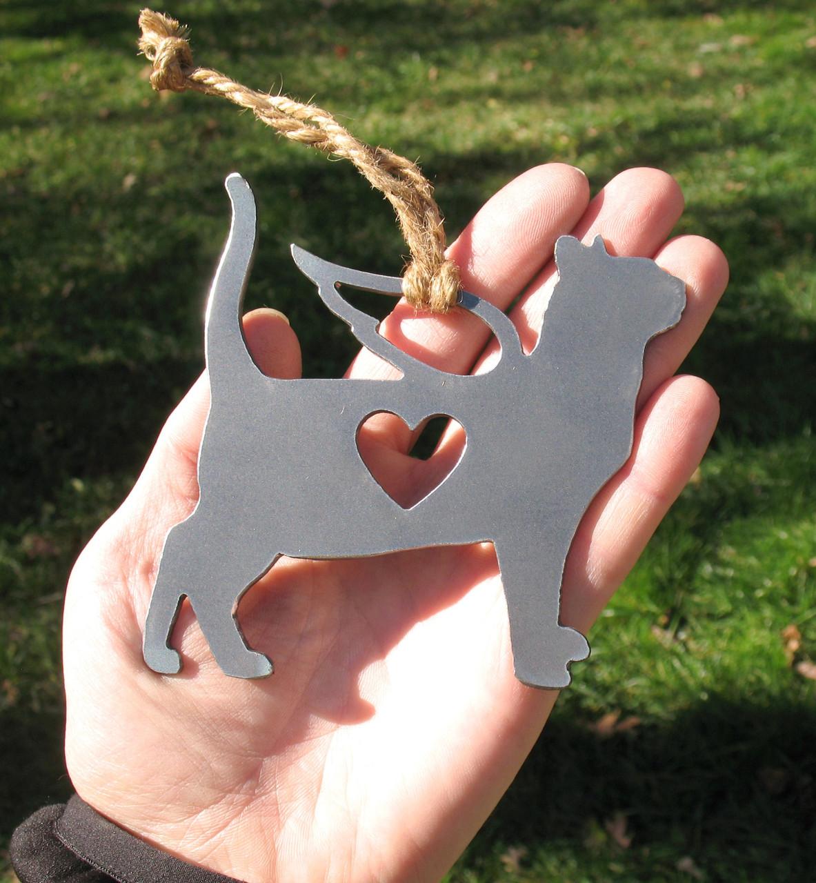 Bengal Cat Memorial Angel - Cat Loss Gift - Pet Loss Cat Sympathy Remembrance Gift - Metal Cat Christmas Ornament - Cat Lover