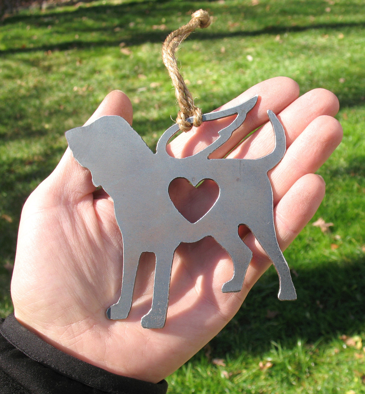 Bloodhound Dog Pet Loss Gift Ornament Angel - Pet Memorial - Dog Sympathy Remembrance Gift - Metal Dog Christmas Ornament