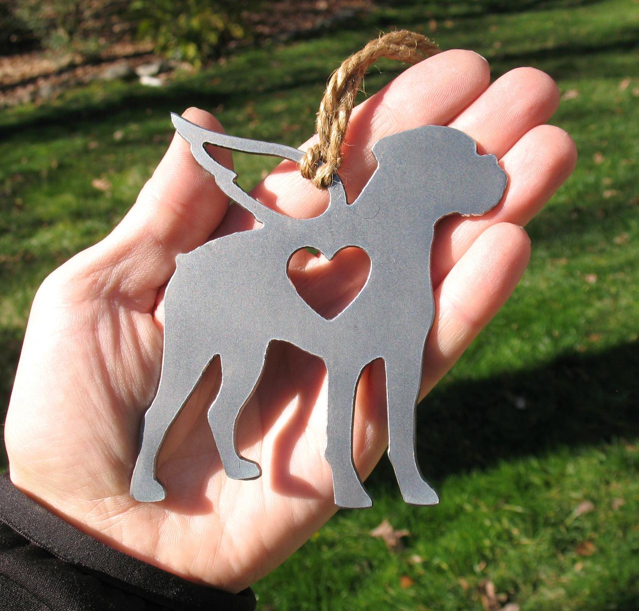 Boxer Dog 5 Pet Loss Gift Ornament Angel - Pet Memorial - Dog Sympathy Remembrance Gift - Metal Dog Christmas Ornament