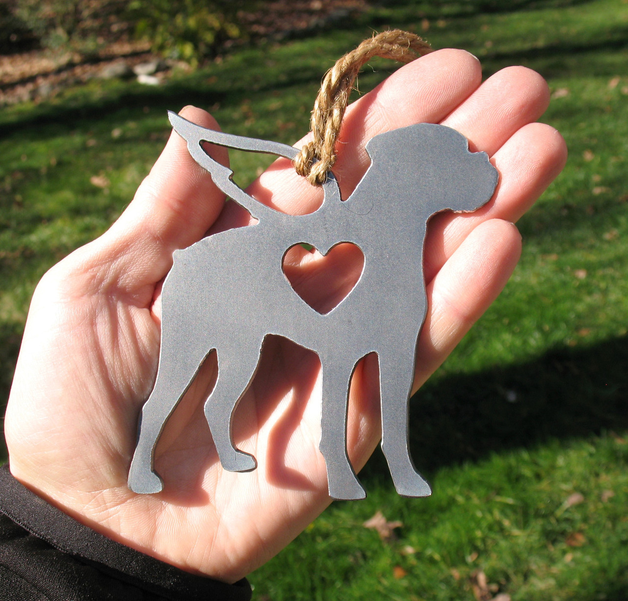 Boxer Dog 5 Pet Loss Gift Ornament Angel - Pet Memorial - Dog Sympathy Remembrance Gift - Metal Dog Christmas Ornament