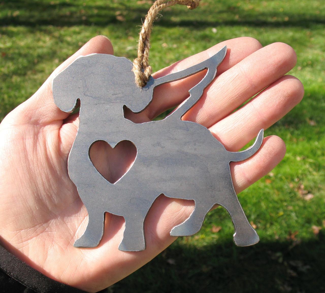 Dachshund 3 Pet Loss Gift Ornament Angel - Pet Memorial - Dog Sympathy Remembrance Gift - Metal Dog Christmas Ornament