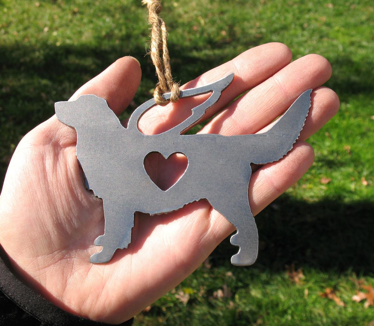 Golden Retriever 4 Pet Loss Gift Ornament Angel - Pet Memorial - Dog Sympathy Remembrance Gift - Metal Dog Christmas Ornament