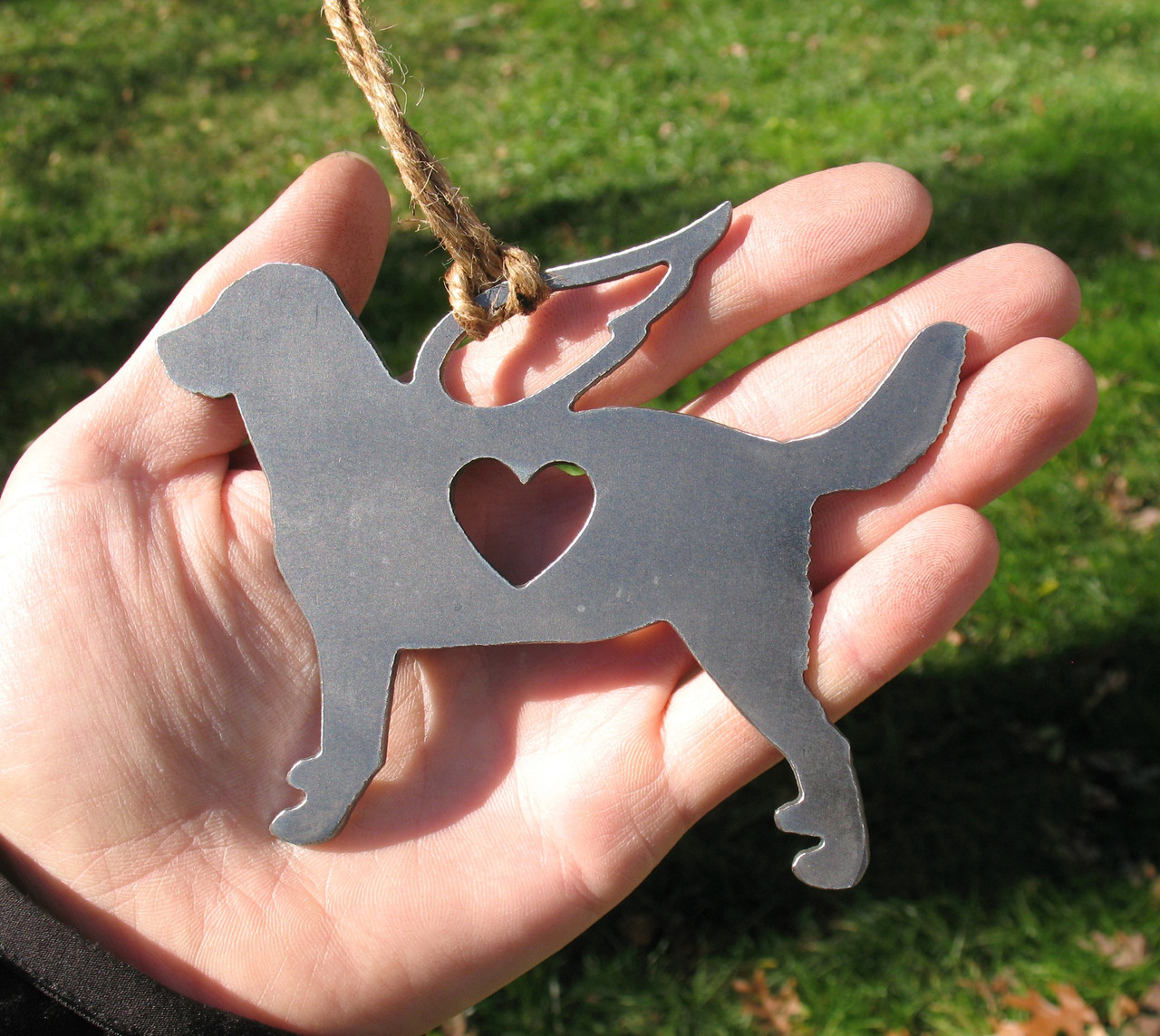 Labrador Retriever 4 Pet Loss Gift Ornament Angel - Pet Memorial - Dog Sympathy Remembrance Gift - Metal Dog Christmas Ornament