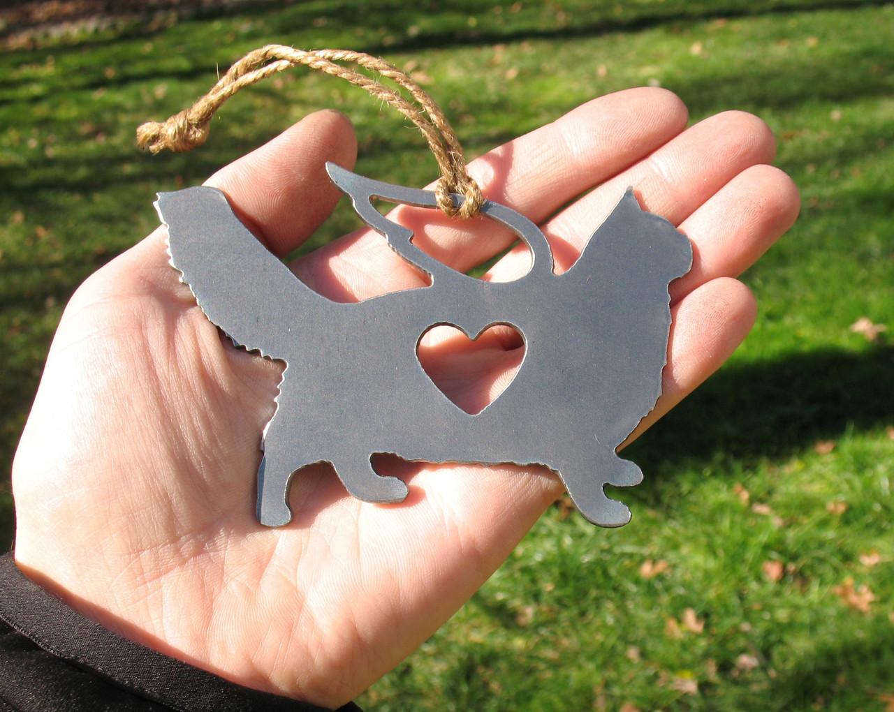 Maine Coon Cat Memorial Angel - Cat Loss Gift - Pet Loss Cat Sympathy Remembrance Gift - Metal Cat Christmas Ornament - Cat Lover