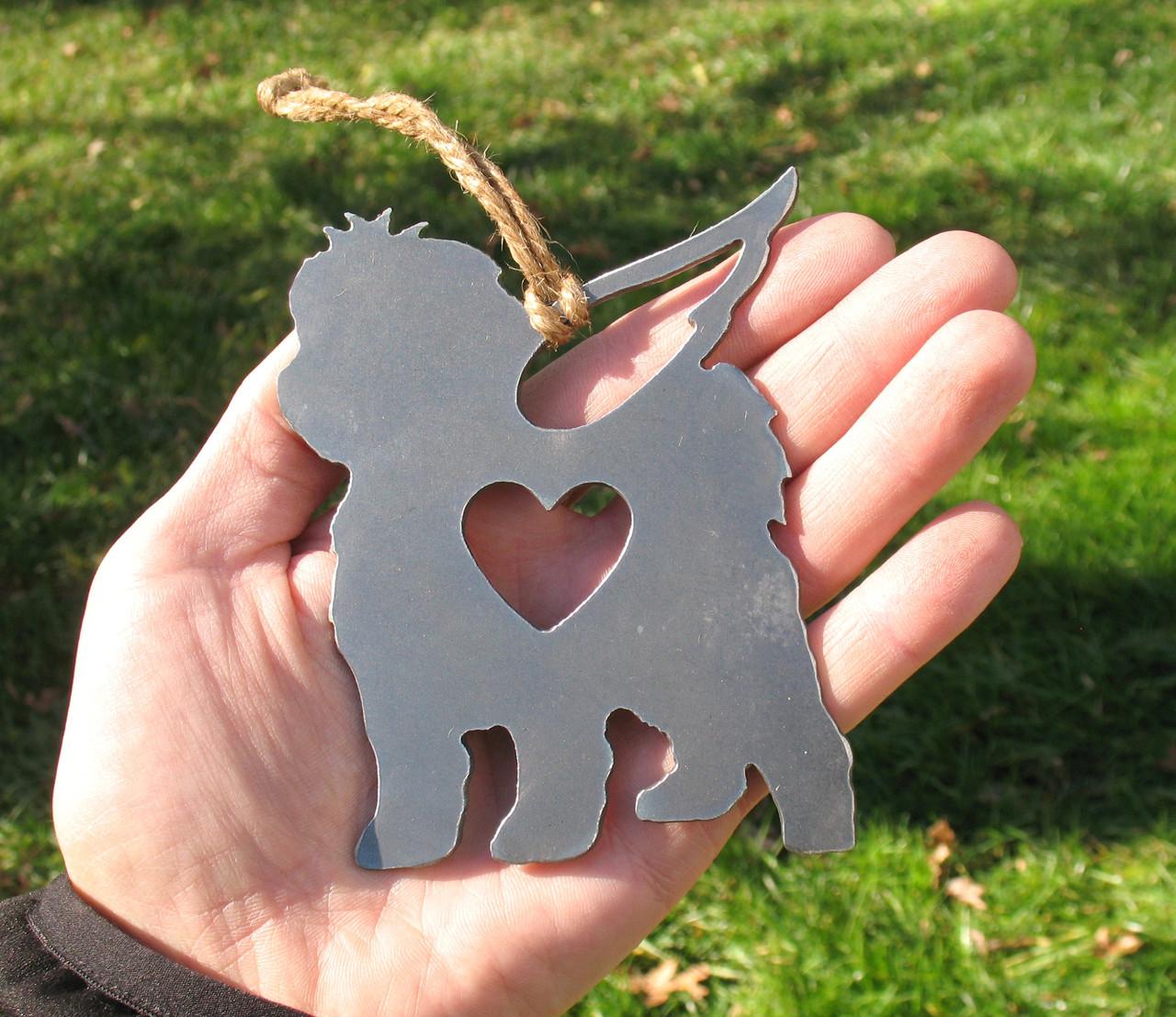 Maltese Dog 2 Pet Loss Gift Ornament Angel - Pet Memorial - Dog Sympathy Remembrance Gift - Metal Dog Christmas Ornament
