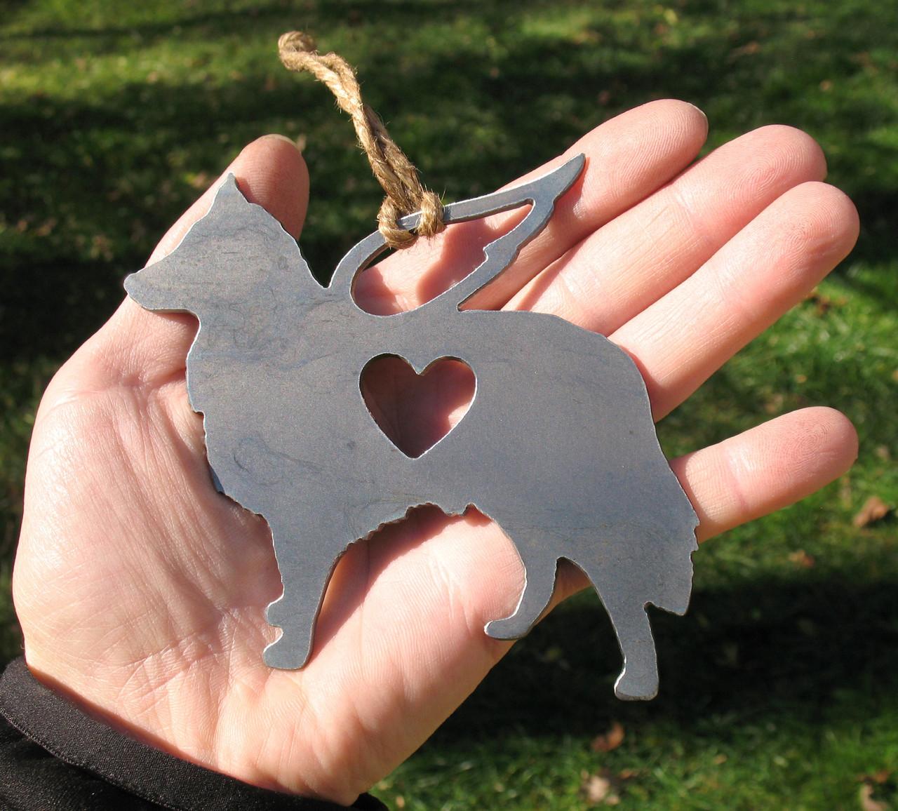 Shetland Sheepdog 2 Pet Loss Gift Ornament Angel - Pet Memorial - Dog Sympathy Remembrance Gift - Metal Dog Christmas Ornament