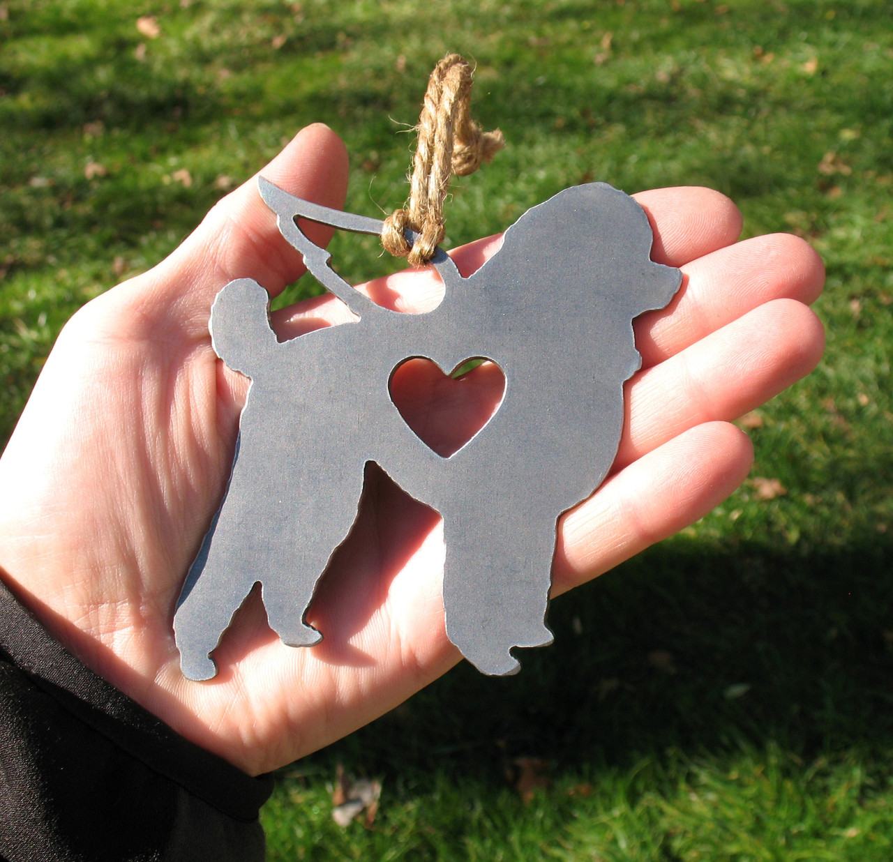 Toy Poodle Pet Loss Gift Ornament Angel - Pet Memorial - Dog Sympathy Remembrance Gift - Metal Dog Christmas Ornament