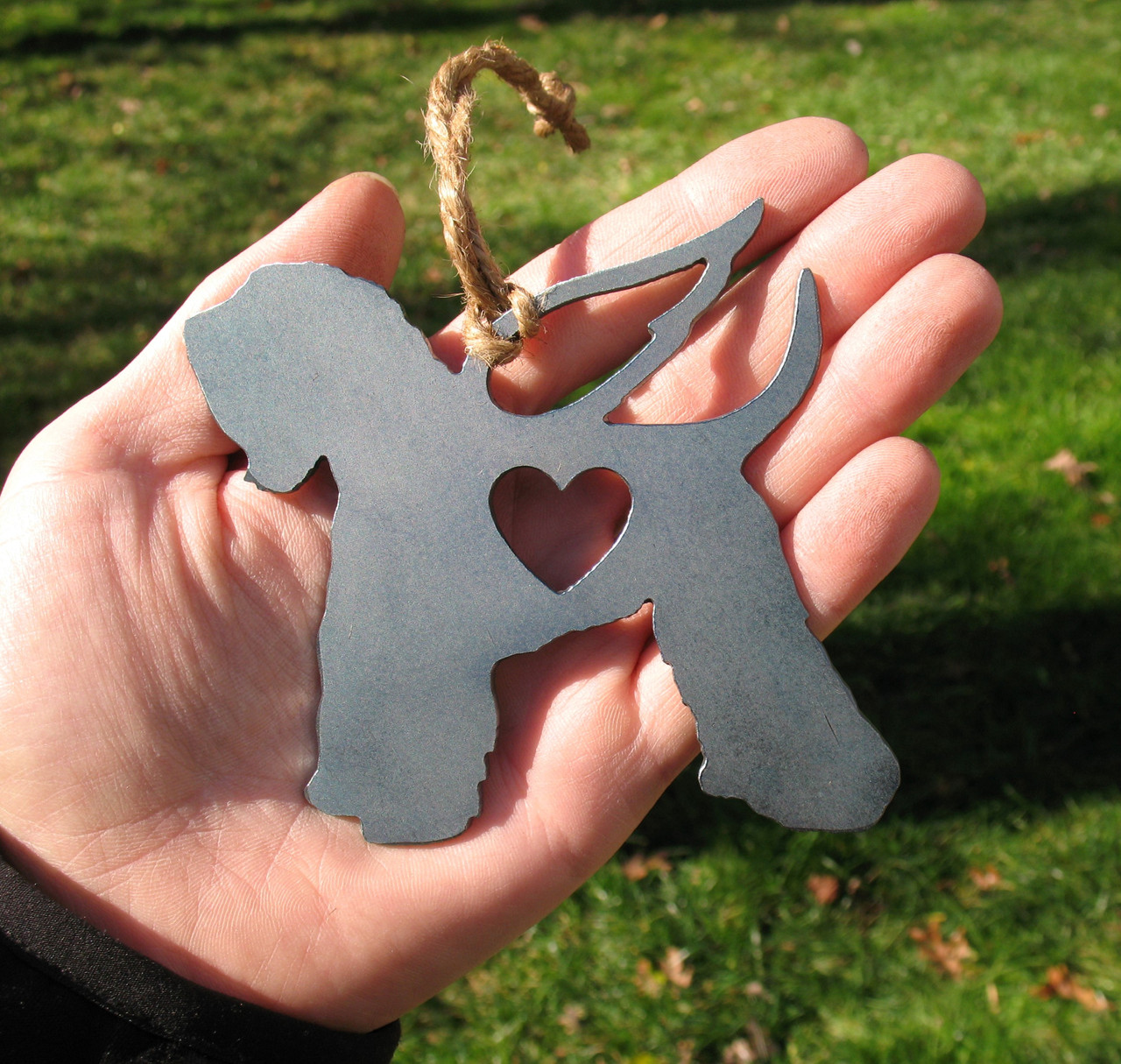 Wheaten Terrier Pet Loss Gift Ornament Angel - Pet Memorial - Dog Sympathy Remembrance Gift - Metal Dog Christmas Ornament