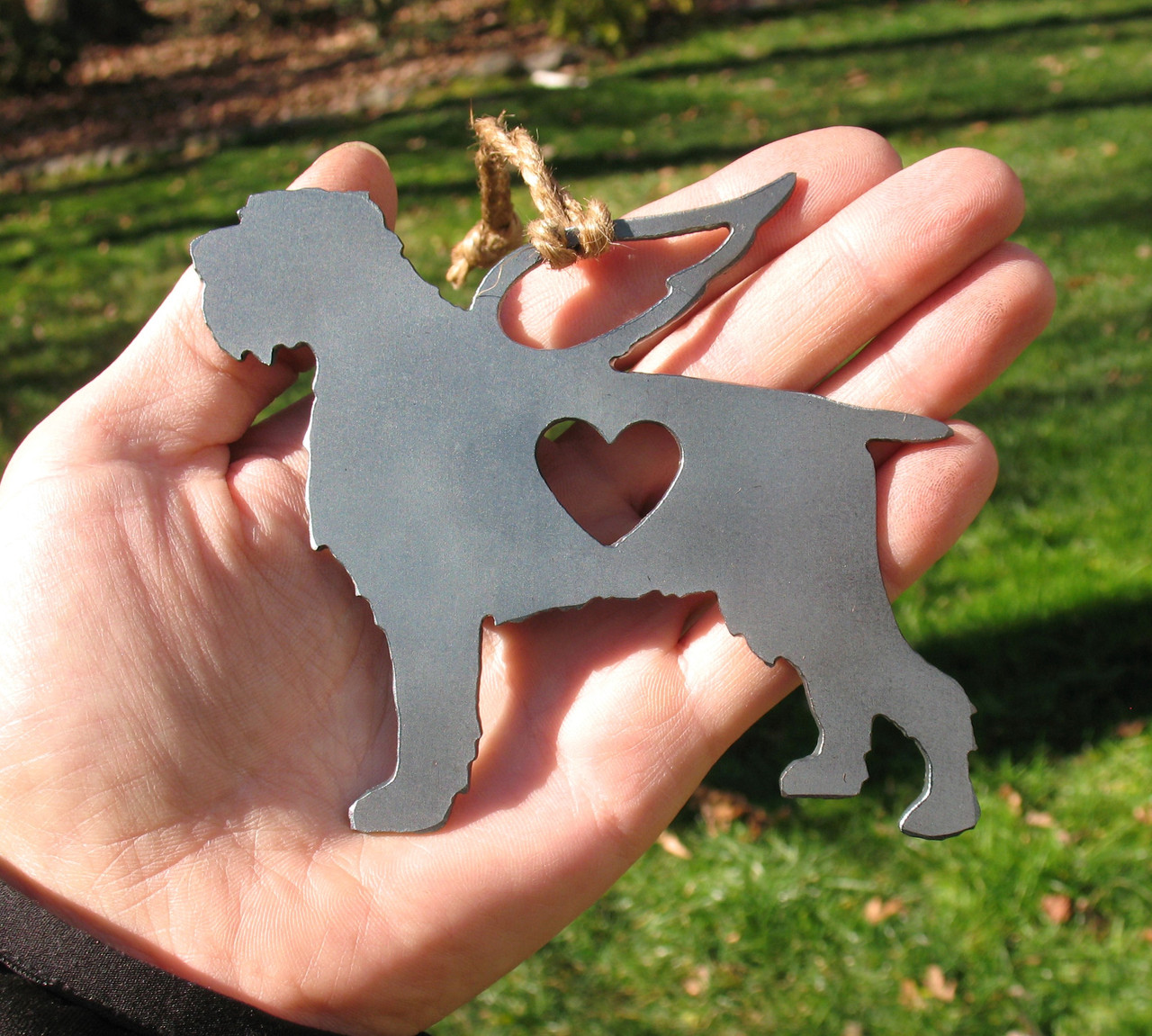 Wirehaired Pointing Griffon Pet Loss Gift Ornament Angel - Pet Memorial - Dog Sympathy Remembrance Gift - Metal Dog Christmas Ornament