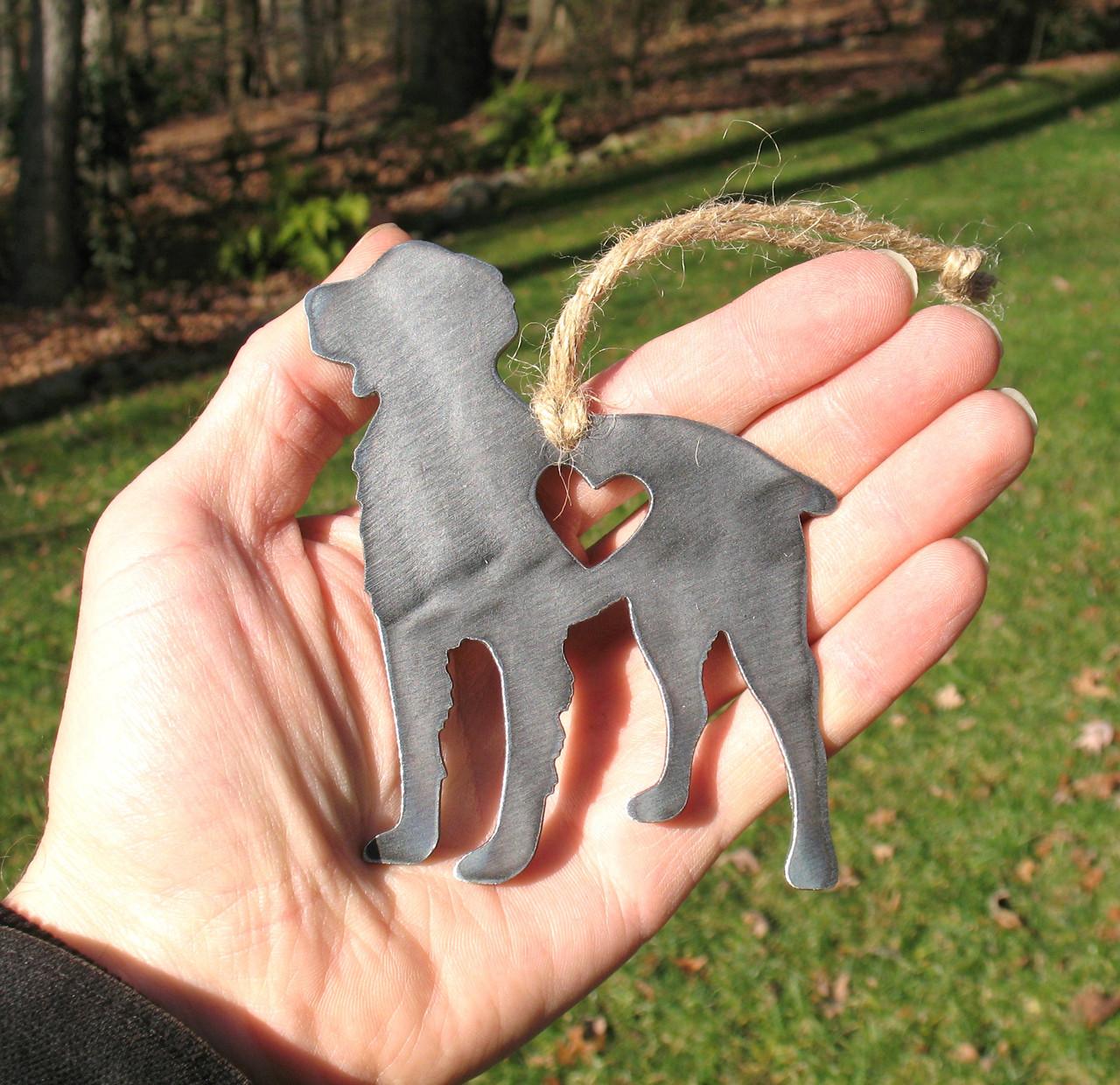 Brittany Spaniel Dog Ornament 1 - Metal Dog Christmas Ornament - Pet Lover Memorial Ornament - Pet Loss Dog Memorial Remembrance Gift