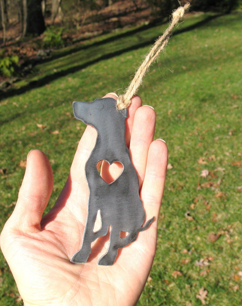 German Shorthaired Pointer Dog Ornament 2 - Metal Dog Christmas Ornament - Pet Lover Memorial Ornament - Pet Loss Dog Memorial Ornament Gift