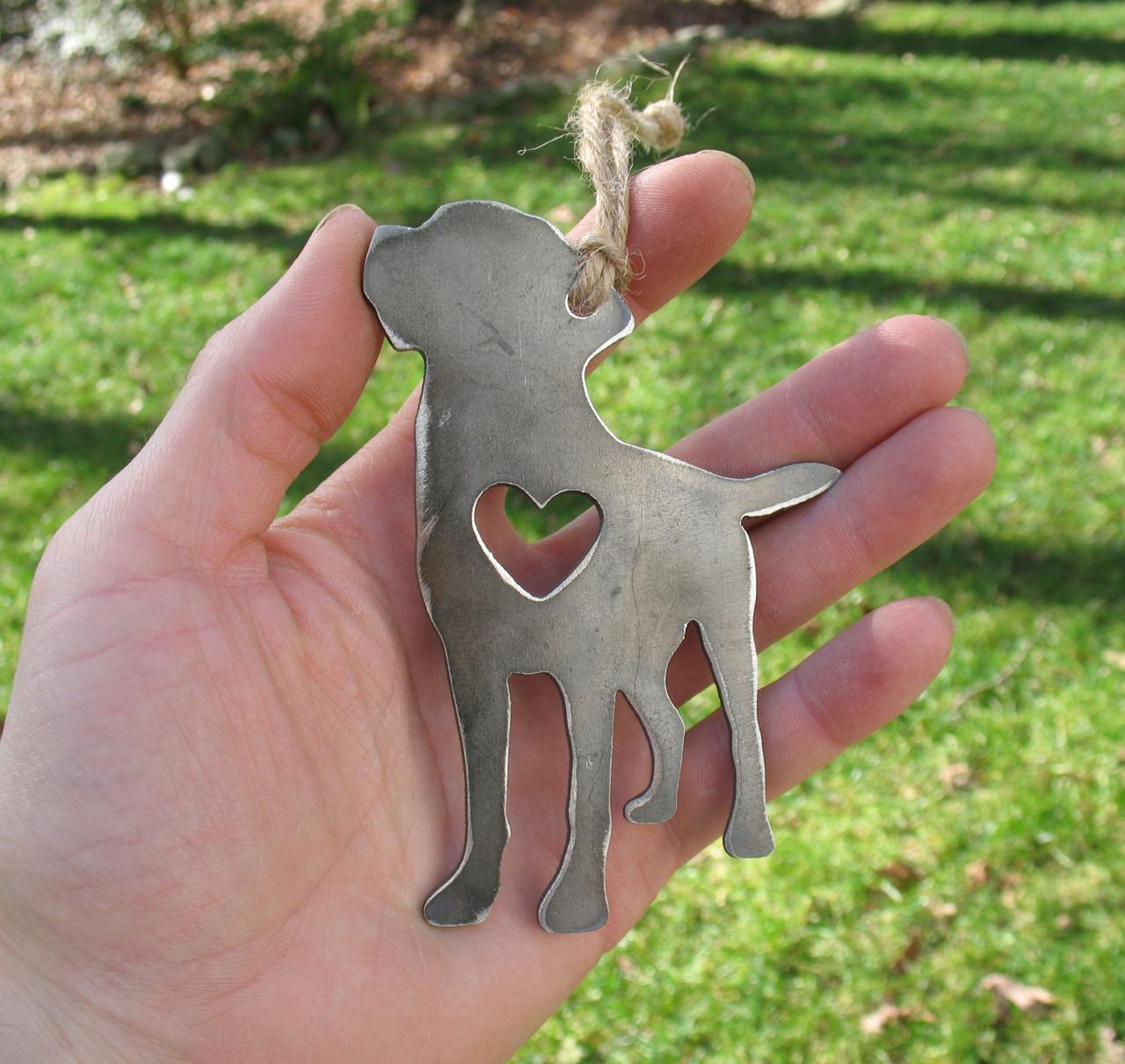 Labrador Retriever Dog Ornament 2 - Metal Dog Easter Basket Gift for Him Her - Pet Lover Memorial Ornament - Pet Loss Dog Remembrance Gift