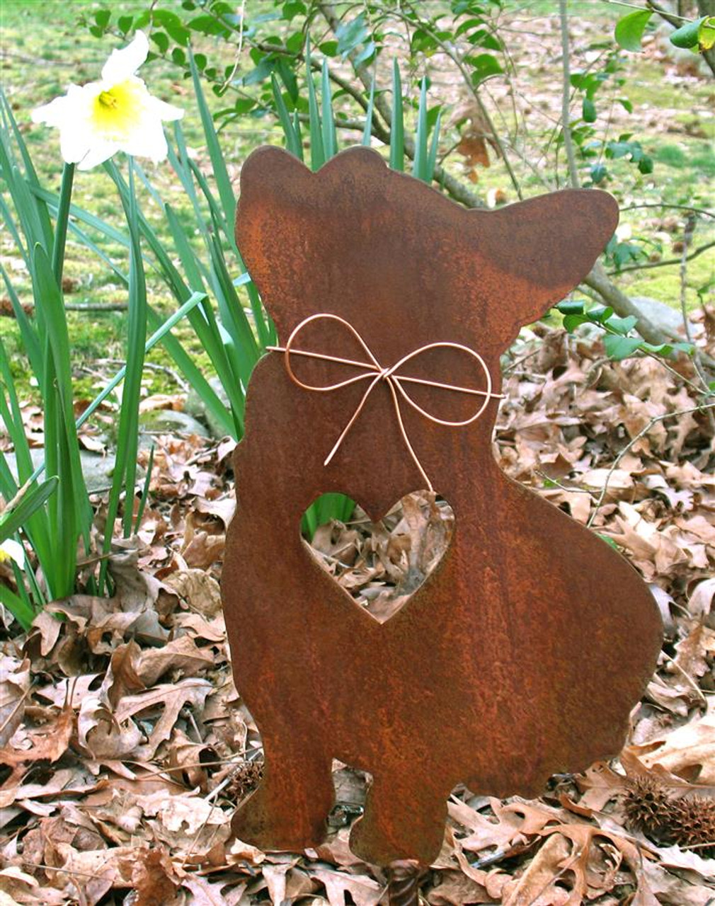 Corgi Dog Metal Garden Stake - Metal Yard Art - Metal Garden Art - Pet Memorial