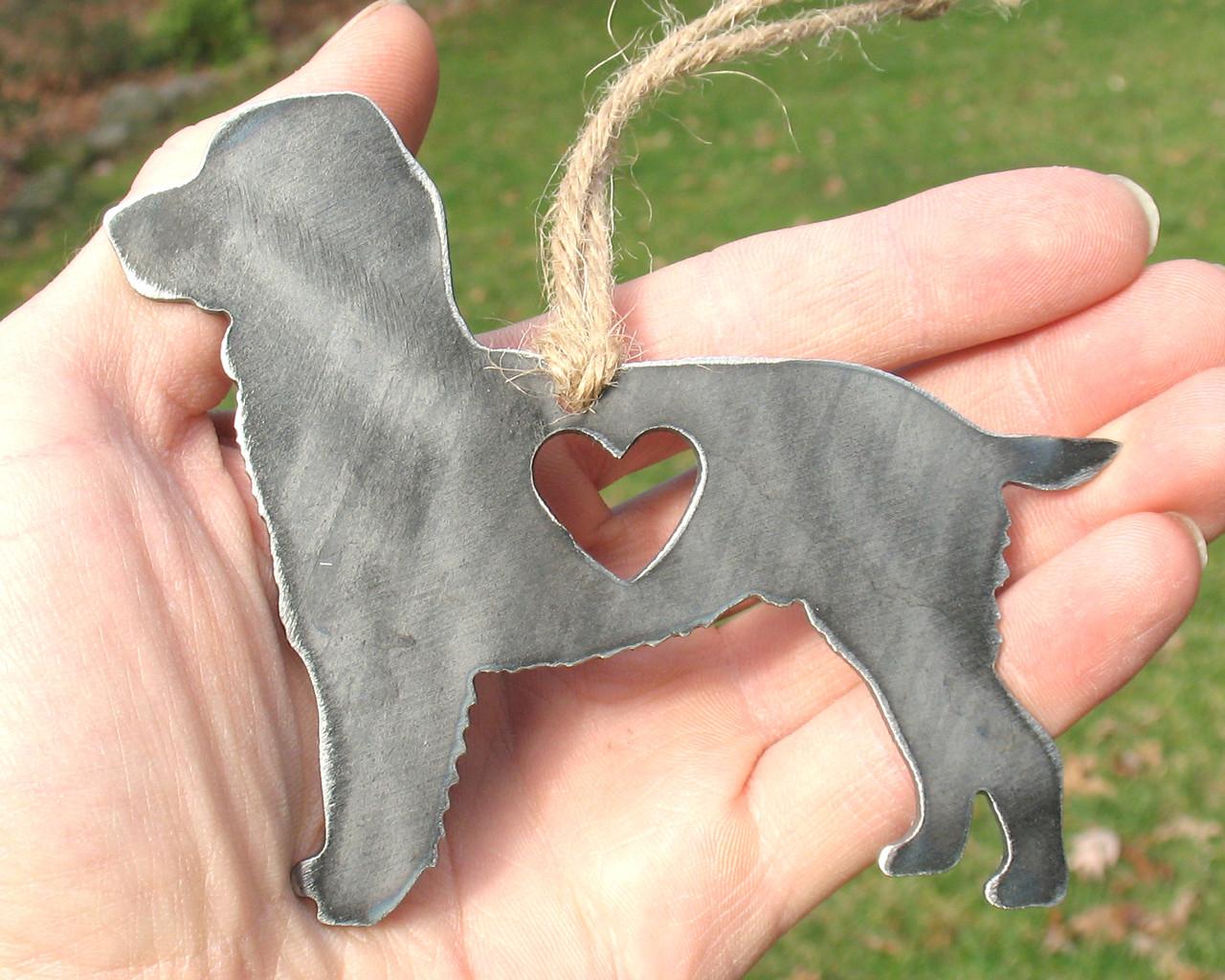 Springer Spaniel Dog Ornament 1 - Metal Dog Christmas Ornament - Pet Lover Memorial Ornament - Pet Loss Dog Memorial Remembrance Gift