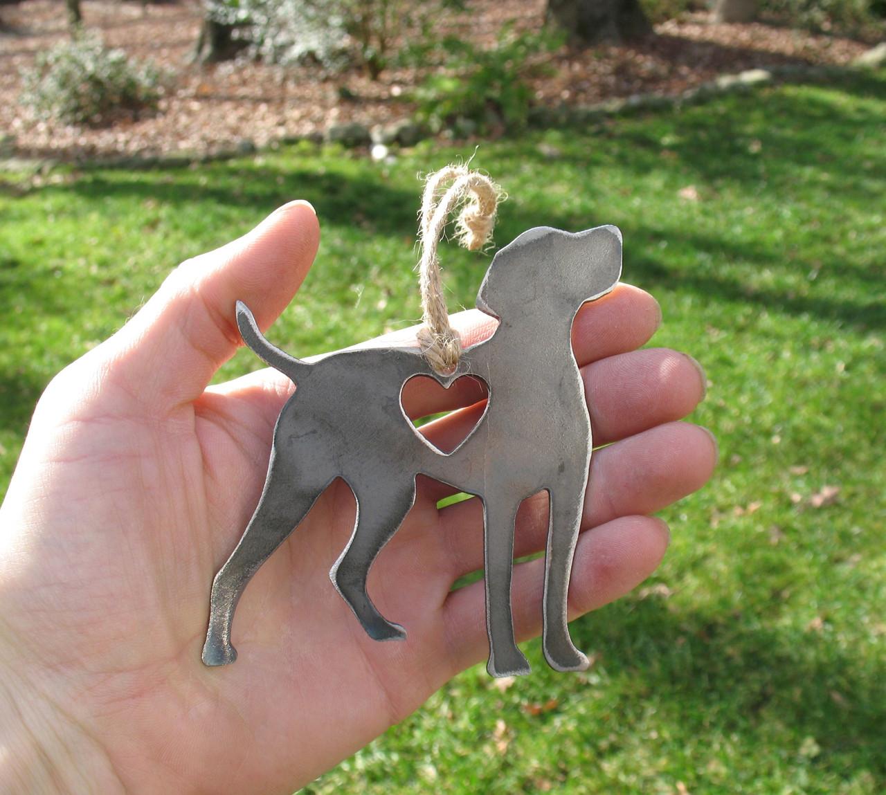 Vizsla Dog Ornament - Metal Dog Christmas Ornament - Pet Lover Memorial Ornament - Pet Loss Dog Memorial Ornament Remembrance Gift