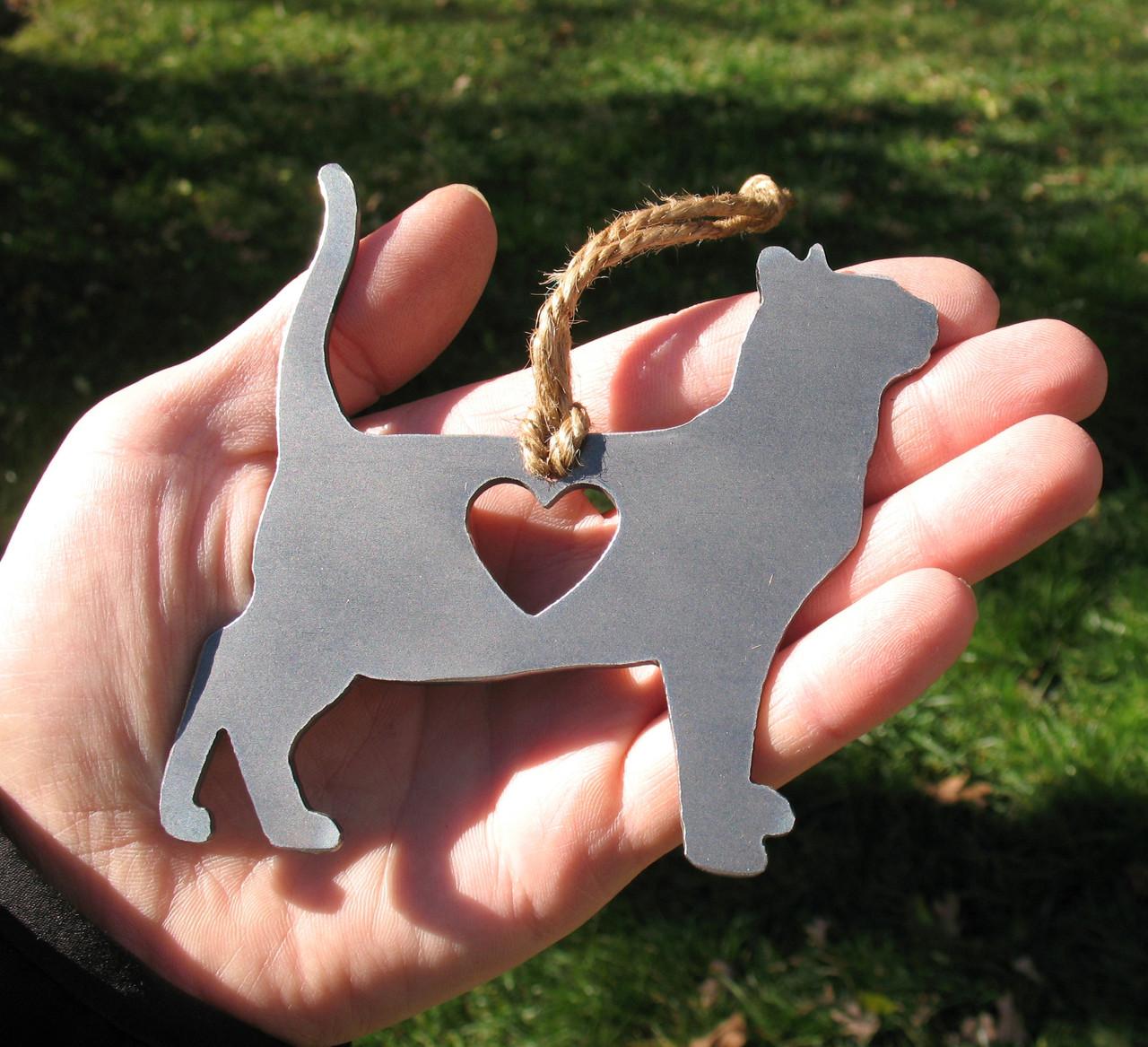 Bengal Cat Memorial - Cat Loss Gift - Pet Loss Cat Sympathy Remembrance Gift - Metal Cat Christmas Ornament - Cat Lover