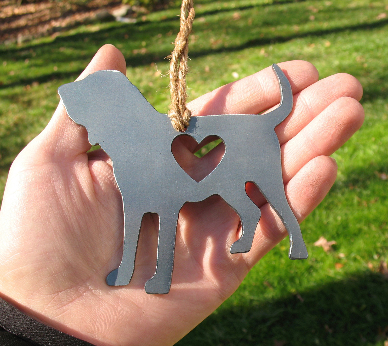 Bloodhound Dog Pet Loss Gift Ornament - Pet Memorial - Dog Sympathy Remembrance Gift - Metal Dog Christmas Ornament