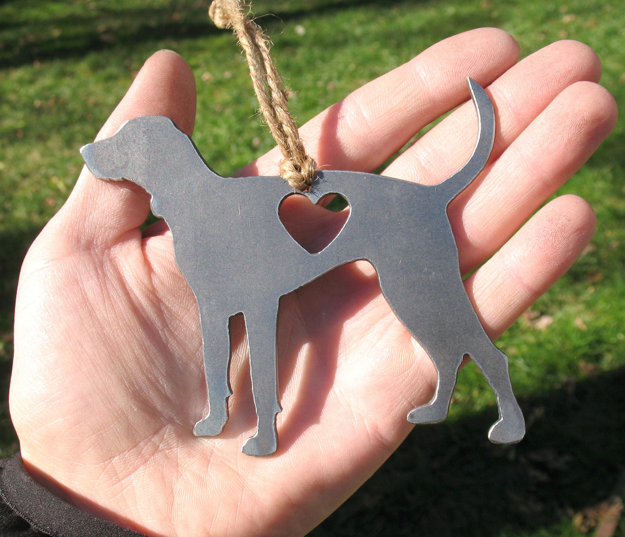 Bluetick Coonhound Pet Loss Gift Ornament - Pet Memorial - Dog Sympathy Remembrance Gift - Metal Dog Christmas Ornament
