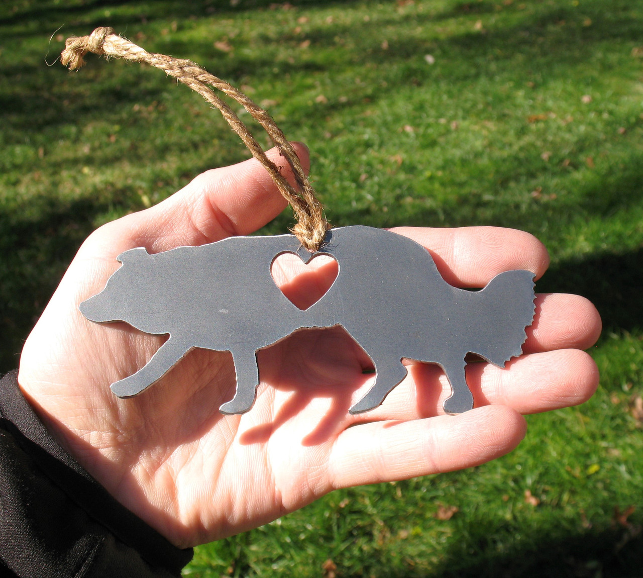 Border Collie 3 Pet Loss Gift Ornament - Pet Memorial - Dog Sympathy Remembrance Gift - Metal Dog Christmas Ornament