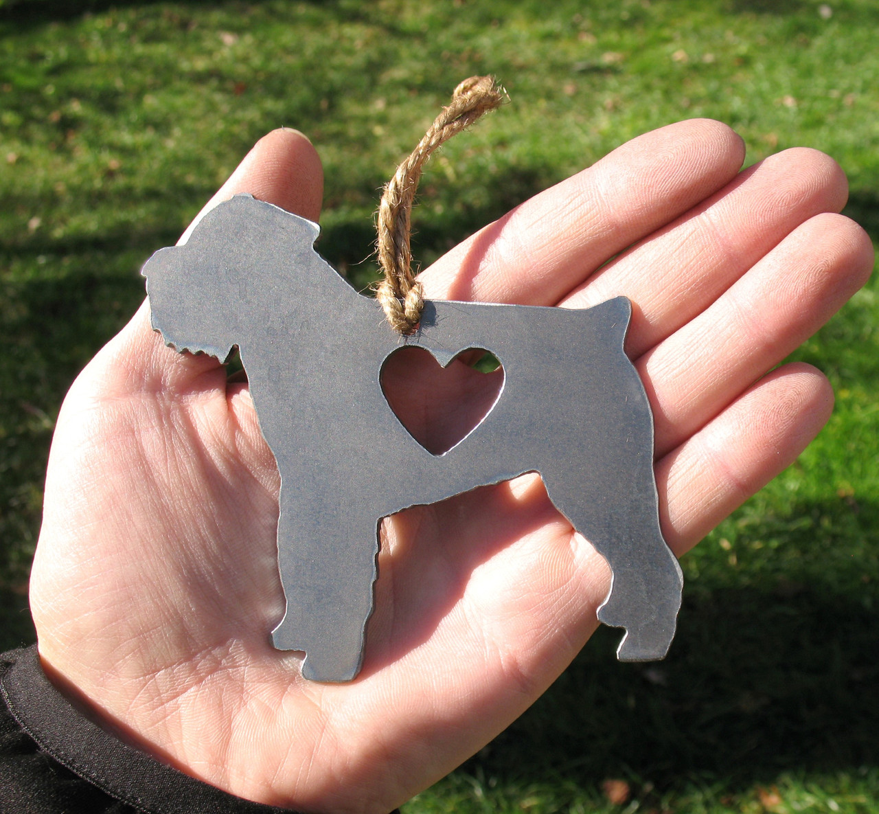 Brussels Griffon Pet Loss Gift Ornament - Pet Memorial - Dog Sympathy Remembrance Gift - Metal Dog Christmas Ornament