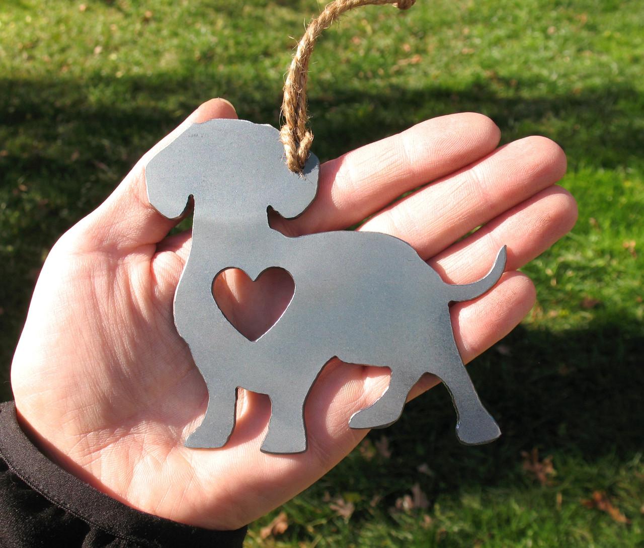 Dachshund 3 Pet Loss Gift Ornament - Pet Memorial - Dog Sympathy Remembrance Gift - Metal Dog Christmas Ornament