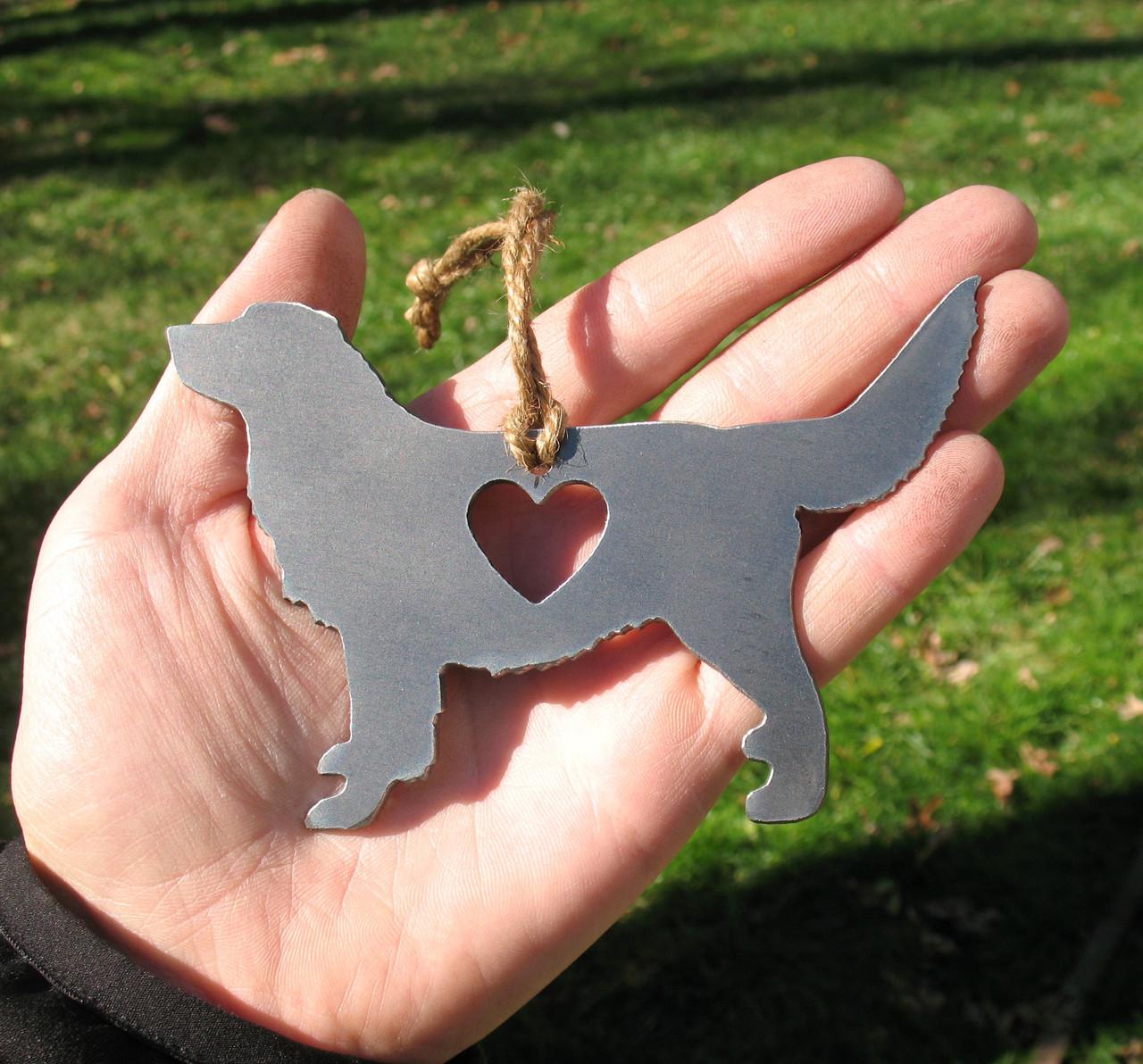 Golden Retriever 4 Pet Loss Gift Ornament - Pet Memorial - Dog Sympathy Remembrance Gift - Metal Dog Christmas Ornament