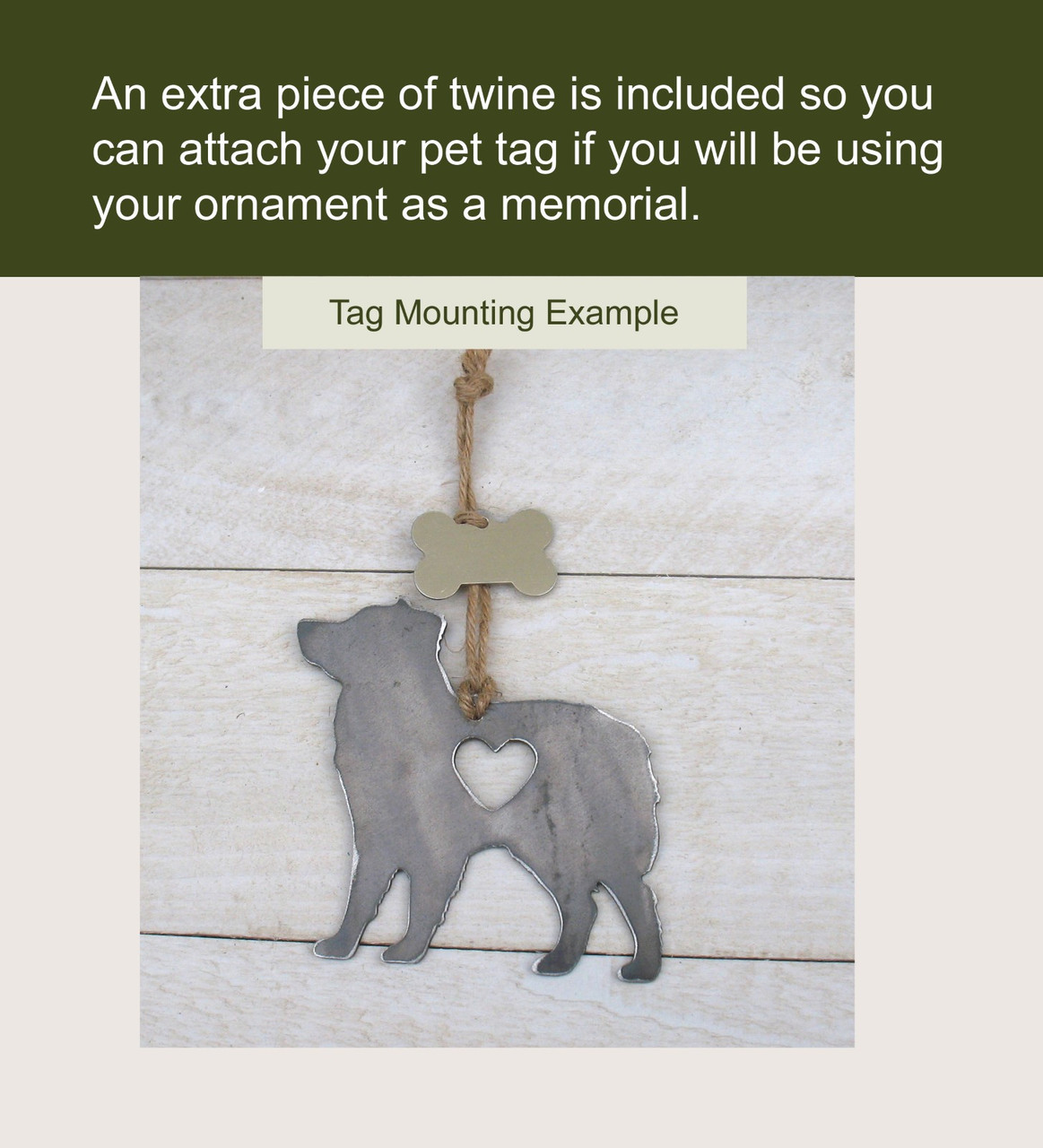Great Pyrenees Pet Loss Gift Ornament - Pet Memorial - Dog Sympathy Remembrance Gift - Metal Dog Christmas Ornament
