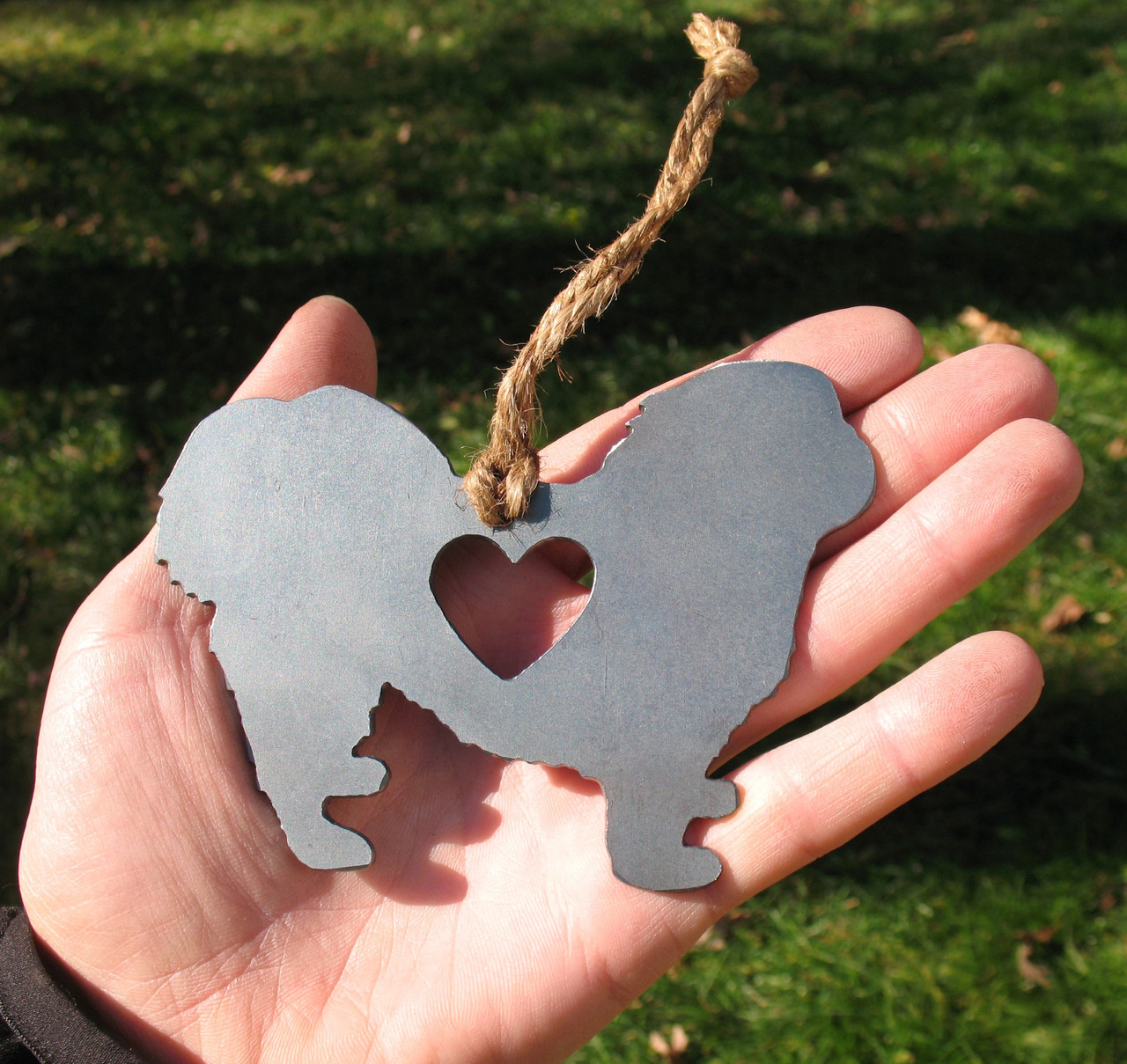 Pekingese Dog Pet Loss Gift Ornament - Pet Memorial - Dog Sympathy Remembrance Gift - Metal Dog Christmas Ornament
