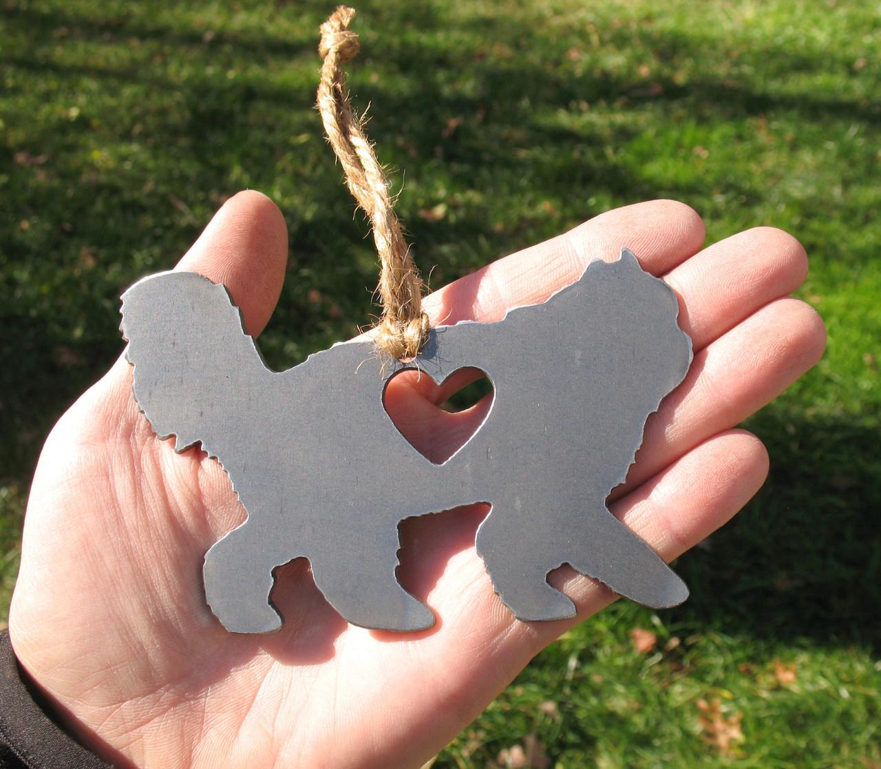 Persian Cat Memorial - Cat Loss Gift - Pet Loss Cat Sympathy Remembrance Gift - Metal Cat Christmas Ornament - Cat Lover