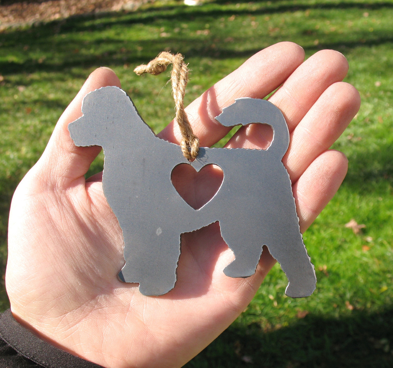 Portuguese Water Dog Pet Loss Gift Ornament - Pet Memorial - Dog Sympathy Remembrance Gift - Metal Dog Christmas Ornament