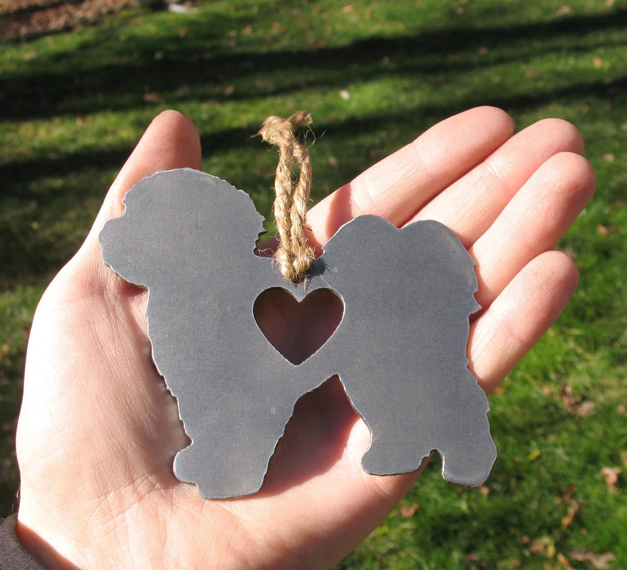 Shih Tzu 2 Pet Loss Gift Ornament - Pet Memorial - Dog Sympathy Remembrance Gift - Metal Dog Christmas Ornament