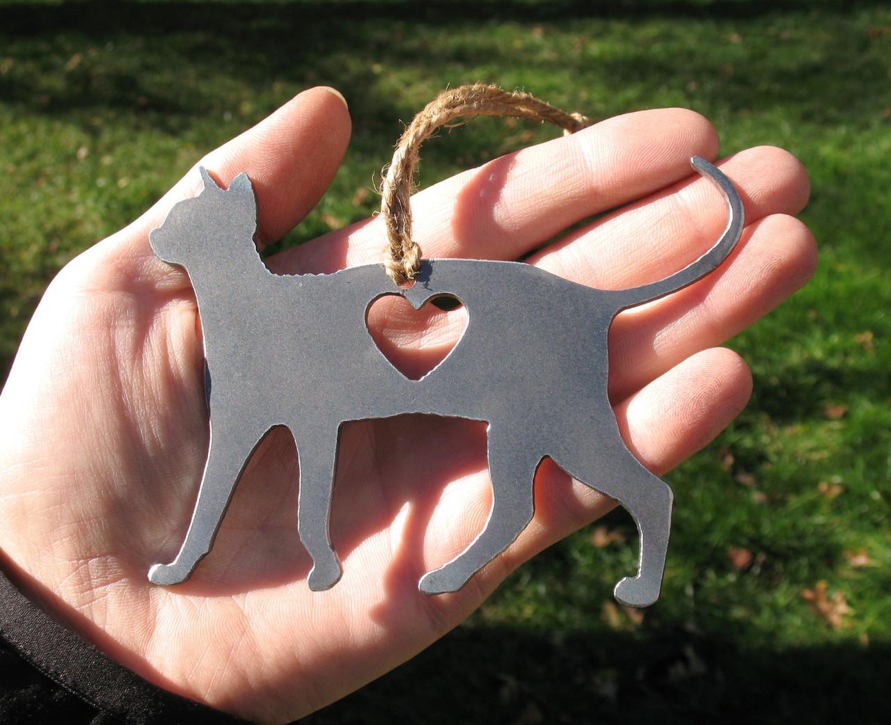 Sphynx Cat Memorial - Cat Loss Gift - Pet Loss Cat Sympathy Remembrance Gift - Metal Cat Christmas Ornament - Cat Lover