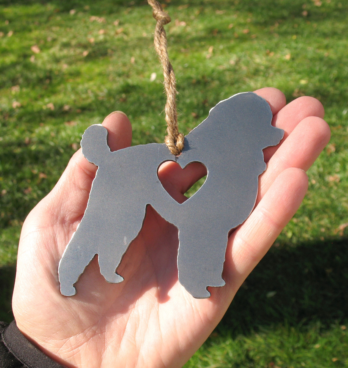 Toy Poodle Pet Loss Gift Ornament - Pet Memorial - Dog Sympathy Remembrance Gift - Metal Dog Christmas Ornament