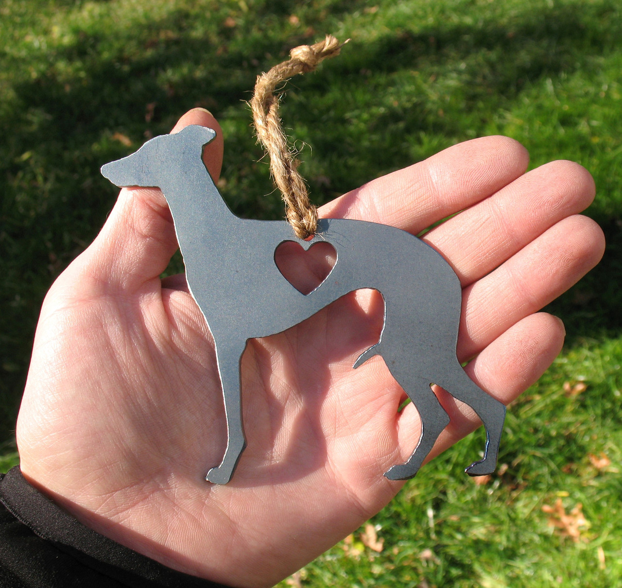 Whippet Pet Loss Gift Ornament - Pet Memorial - Dog Sympathy Remembrance Gift - Metal Dog Christmas Ornament