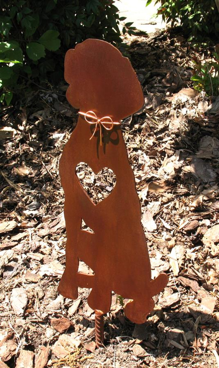 Weimaraner Dog Metal Garden Stake - Metal Yard Art - Metal Garden Art - Pet Memorial