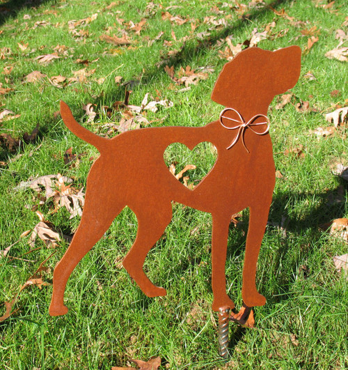 Vizsla Dog Metal Garden Stake - Metal Yard Art - Metal Garden Art - Pet Memorial