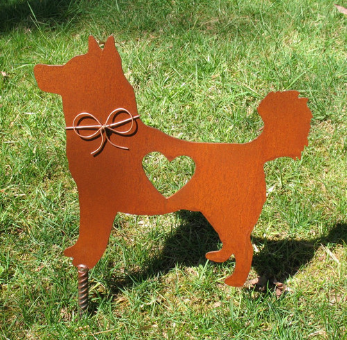 Husky Dog Metal Garden Stake - Metal Yard Art - Metal Garden Art - Pet Memorial 2