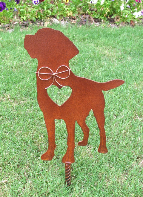 Labrador Retriever Dog Metal Garden Stake - Metal Yard Art - Metal Garden Art - Pet Memorial 2