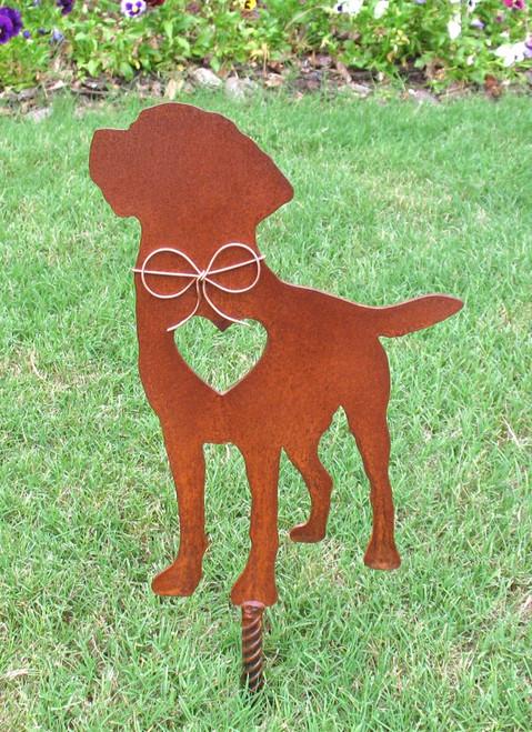 Labrador Retriever Dog Metal Garden Stake - Metal Yard Art - Metal Garden Art - Pet Memorial 2